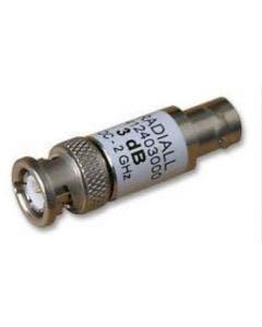 3 dB - BNC (M) to BNC (F) RF Attenuator