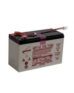 12-V, 7-Ahr Sealed Rechargeable Battery